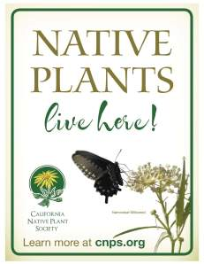 Native plants live here - garden sign